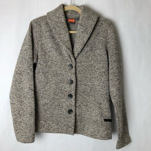 Merrell Sweater Coat Fleece Heathered Gray Size L